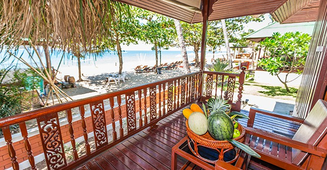 Beach front Bungalow at Lamai Coconut Beach Resort Samui